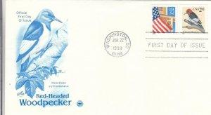 1999, Red-Headed Woodpecker, Artcraft/PCS, FDC (E7916)