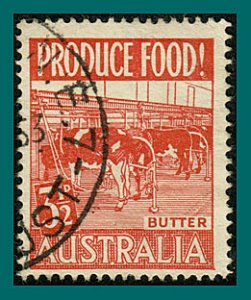 Australia 1953 Produce Food, Butter, 3.5d used #253,SG258