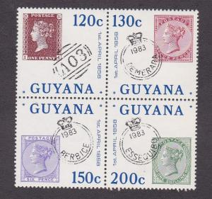 Guyana # 713a-d, British Stamps used in Guyana, LH, 1/3 Cat.