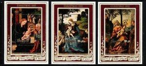 Penrhyn -Sc#208-10- id7-unused NH sheets-Christmas-Paintings-1982-