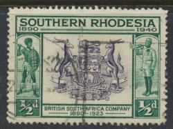 Southern Rhodesia SG 53 Used