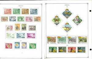 Ghana 1957-1992 M (mostly) & U Hinged on Scott International Pages thru 1999