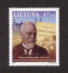 Lithuania Sc# 984 MNH Oskar Minkowski