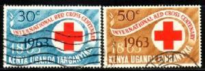 Cent. Red Cross, Kenya, Uganda & Tanzania SC#142-3 used set