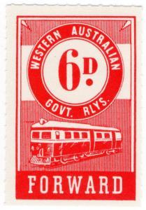 (I.B) Australia - Western Australia Railways : Parcels 6d