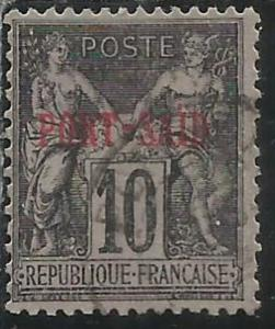 PORT SAID 1899 1900 NAVIGATION AND COMMERCE CENT. 10 USATO USED OBLITERE'
