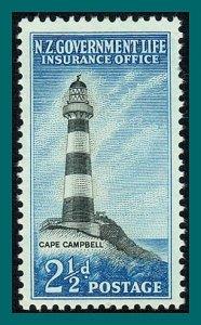 New Zealand 1963 Lighthouse, mint  #OY32,SGL45