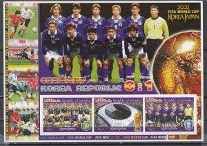 Somalia, 2002 Cinderella issue. Germany Soccer Team. IMPERF W. C. Soccer. ^