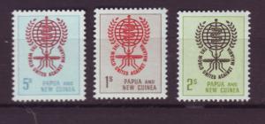 J18719 JLstamps 1961  P.N.G. set mnh #164-6 malaria
