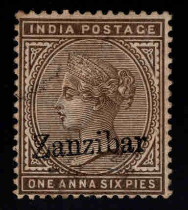 Zanzibar Scott 5 Used nice cancel, color  and centering