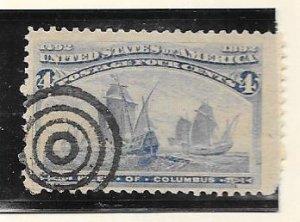 US # 233  4c  Columbian Exposition (U ) CV. $8.00