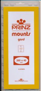 Prinz Scott Stamp Mount 40/265 CLEAR Background Pack of 10