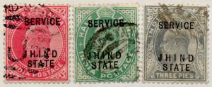 (I.B) India Postal : Jhind State Official Overprints