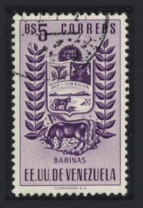 Venezuela Arms State of Barinas Cow and Horse Postage 5Bs Black KEY VALUE