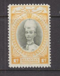 KELANTAN, MALAYSIA, 1937 Sultan, 1c. Grey Olive & Yellow, lhm.
