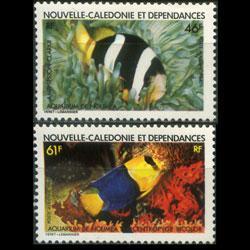 NEW CALEDONIA 1984 - Scott# C193-4 Fish Set of 2 NH