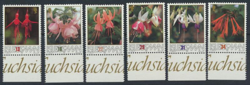Isle of Man - SG 390-395  SC# 371-376  MUH Fuchsia Society