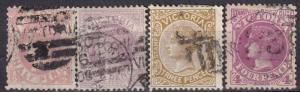 Victoria #146, 148-50  F-VF Used CV $12.15 (A18508)