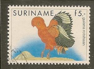 Surinam    Scott 728    Bird    Used