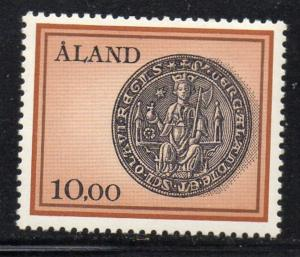 Aland Finland Sc 20 1984 10m Seal of St Olaf stamp mint NH