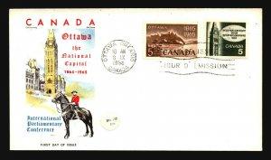 Canada SC# 441 & 442 FDC / Chickering Jackson Cachet / UA - L3212