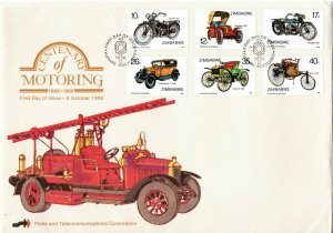 1998 Zimbabwe Cenenary of Motoring First Day Cover