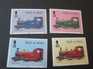 Isle Of Man 1998 Sc 781-4 Train set MNH