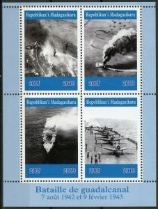 Madagascar 2019 THE GUADALCANAL CAMPAIGN Sheet Perforated Mint (NH)
