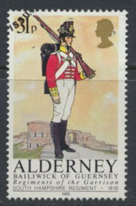 Alderney  SG A26  SC# 26 Military Uniforms Used First Day Cancel - as per scan