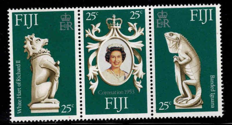 Fiji MNH 384a-c 25th Anniversary Coronation QE II 1972