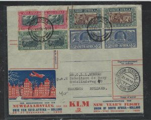 SOUTH AFRICA COVER (P1703B) 1938 VOOTTREKKER FF COVER TO HOLLAND