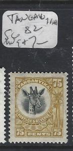 TANGANYIKA (PP1309B)  GIRAFFE 75C  SG 82  MOG