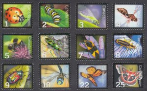 Canada - #2234/2708 Beneficial Insects Complete Set of 12 Stamps - MNH