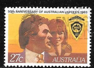 Australia 870: 27c Australian Jaycees, used, VF