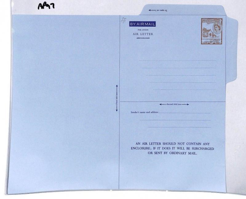 AP97 St Christopher Nevis Angla Airmail Air Letter Postal Stationery Cover PTS