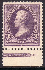 1894 U.S Andrew Jackson 3¢ issue with imprint salvage MNH Sc# 253 CV $360.00