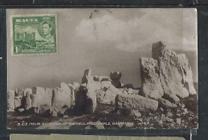 MALTA  COVER (PP0111B) KGVI 1D ON PPC TO ARGENTINA, RECEIVAL CANCEL.  WOW