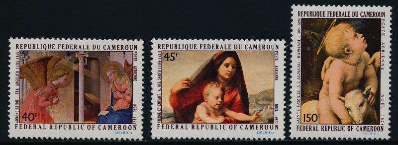 Cameroun C178-80 MNH Art, Christmas, Virgin & Child, Holy Family