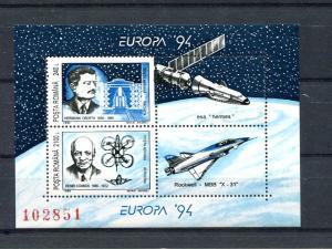 Romania   1994  Europa mini sheet  Mint VF NH