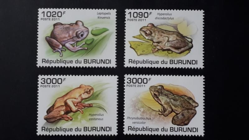 Burundi 2011. - Frogs ** MNH complete set (perforated)