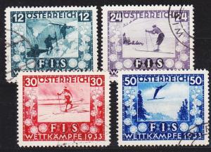 ÖSTERREICH AUSTRIA [1933] MiNr 0551-54 ( O/used )