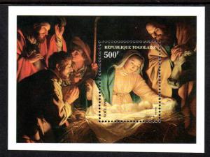 TOGO 1686 S/S MNH SCV $3.75 BIN $2.25 CHRISTMAS