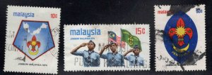 Malaysia Scott 115-117 Used Scout stamp set