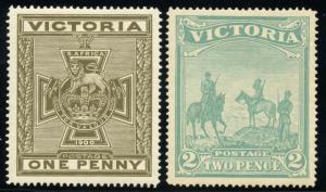 VICTORIA ANGLO BOER WAR SCOTT#B3/4  MINT  HINGED-SCOTT $350.00
