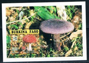 Burkina Faso SC1043 Souv.Sht. Mushrooms MNH 1995