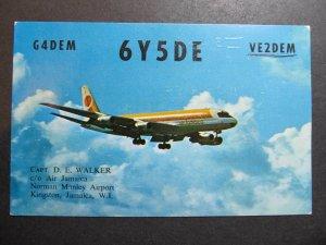 10248 Amateur Radio QSL Card CAPT. D.E. WALKER AIR JAMAICA KINGSTON