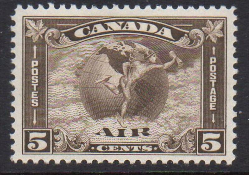 Canada Sc C2 1930 5 cent Circling the Globe airmail stamp mint