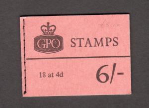 6/- BOOKLET SEPTEMBER 1966 Cat £70