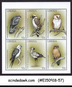 LIBERIA - 1999 BIRDS / OWL FALCON KITE  HAWK - MIN/SHT MNH