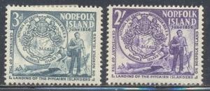 Norfolk Island Scott #'s 19 - 20 MH